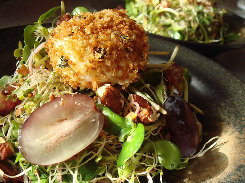 Warm Baked Goat Cheese & Sprouts