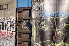 SODO (hishma) Tags: seattle graffiti urbandecay barbedwire washingtonstate sodo leicam8 elmaritm12828mm
