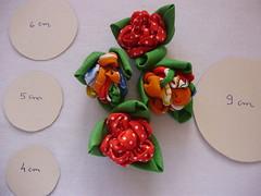 Pap Bolsa Rosas (Bychies Criações) Tags: fuxico pap flordetecido