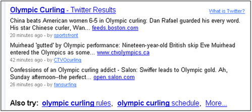 Twitter results for curling on Yahoo! Search