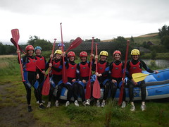 Hen Do Rafting near Aviemore