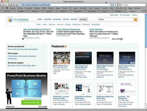 SlideShare Home Page