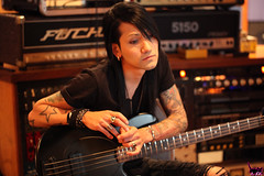 Ashley Purdy - Studio (sammi.doll) Tags: music andy rock studio album ashley gothic band purdy six recording fuchs bvb screamo sixx alvarenga ashleypurdy jinxx blackveilbrides andy6 sandraalvarenga jakepitts