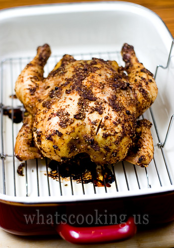 Honey adobo roasted chicken