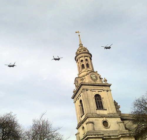 Choppers over St Alfeges