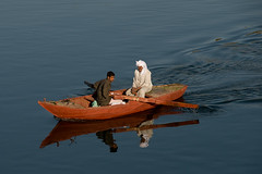 On the Nile River (ania.egypt) Tags: travel river boat fisherman egypt nile nil d egipt rybak rzeka podr