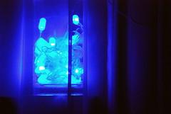 Blue LED lights (Masakino Fuquini) Tags: christmas xmas blue london luz azul lights led   blueled