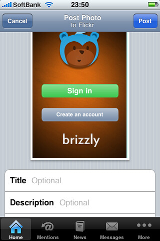 Brizzly iPhone App
