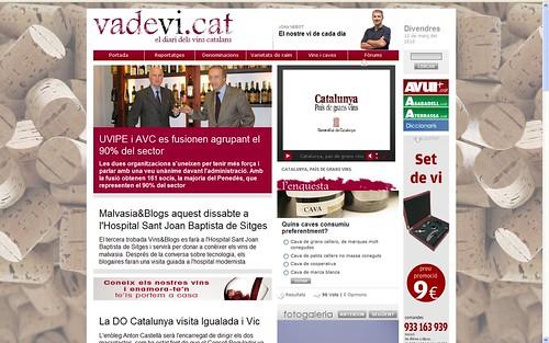 Portada vadevi.cat 12-3-10: 3n Vins&Blogs o Malvasia&Blogs