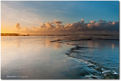 Kayama Reflexion (Zakaria Salhi) Tags: sunset orange cloud beach water nikon morocco maroc reflexion rabat d300 zakariasalhi