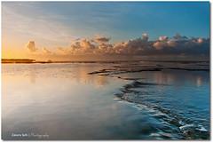 Kayama Reflexion (Zakaria Salhi) Tags: sunset orange cloud beach water nikon morocco maroc reflexion rabat d300 zakariasalhi