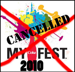 Coke Fest 2010 cancelled