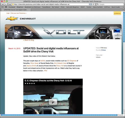 Chevrolet Posterous Blog
