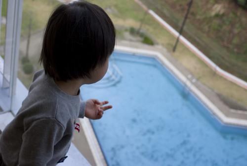 ホテルにはプールがありました。