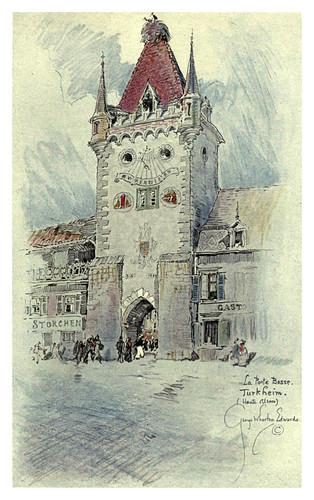 012-Turkheim-La puerta Baja-Alsace-Lorraine-1918- Edwards George Wharton