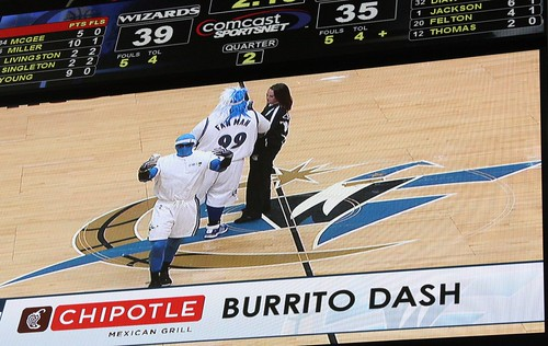 Burrito Dash, Washington Wizards, Verizon Center G-Man