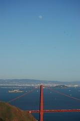 Sky's The Limit 2 (Willlllake) Tags: ocean bridge blue moon green grass golden moss gate san francisco long exposure bokeh filter nd mussels clams 55200