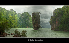 James Bond Island - Phang Nga Bay (DolliaSH) Tags: trip travel vacation panorama holiday tourism canon thailand island asia southeastasia tour place bangkok kingdom tailandia visit location tourist thaïlande explore journey thai destination traveling phuket visiting siam topf100 frontpage fareast thailandia dri topf250 topf200 touring 1022 jamesbond tailand manwiththegoldengun phangngabay tomorrowneverdies 3000views explored thaimaa thajsko constitutionalmonarchy southeasternasia canoneos50d dollia dollias sheombar dolliash subregionofasia kohpinggun