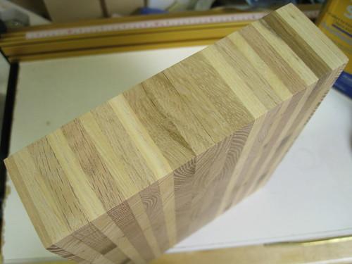 edge of end grain cutting board