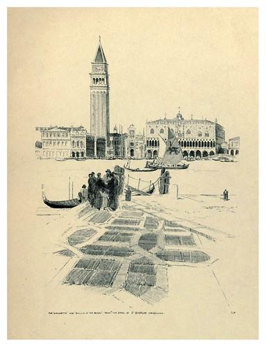 021-La Plazzetta y el Palacio de los Dogos desde las escaleras de San Giorgio Maggiore-Venice  a sketch-book 1914- Richards Fred