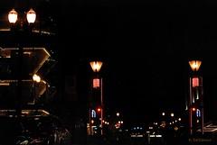 Portland Night Lights (doubledcop) Tags: red black yellow oregon lights streetlamps streetlights citylights portlandoregon lamplights