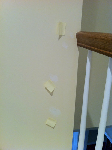 Post-it note reminders for repainting