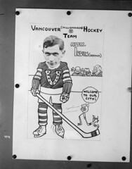 Vancouver (Millionaires) Hockey Team, Vancouver Hockey Club [copy of photo/caricature of Alex Irvin]