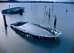 Etang de Vic (Marc ALMECIJA) Tags: étang vic long pose exposure exposition blue bleu boat bateau sony rx10