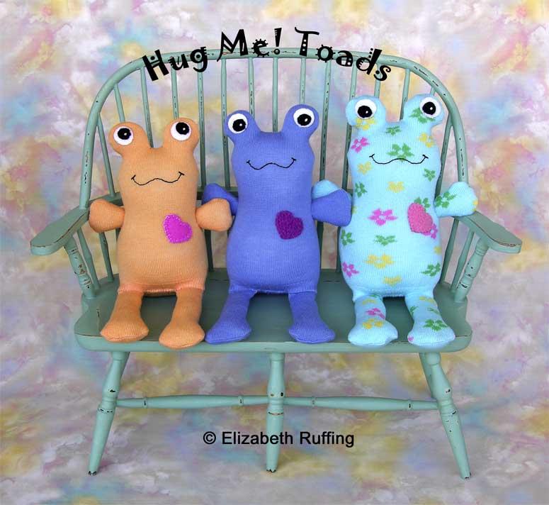 Hug Me! Toads, Original Art Toys by Elizabeth Ruffing