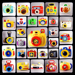 tools of the young apprentice (Thonk!) Tags: camera toy photography play disney collection sesamestreet playdoh polyptych mattel tomy fisherprice happymeal argus pretend playskool argusseventyfive ttv throughtheviewfinder thonk ttv365 myyearttv2009 brioambi