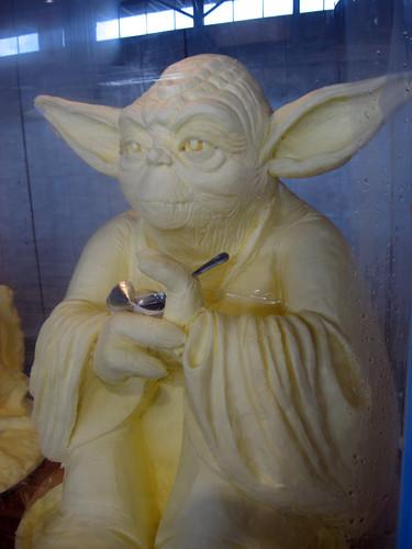 Yoda Butter Sculpture
