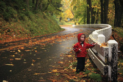 Owen's rainy day (Zeb Andrews) Tags: road autumn portrait color fall oregon child son pacificnorthwest gorge owen columbiarivergorge historichighway bluemooncamera canon5dmarkii zebandrewsphotography goshheisgrowingup compstomp asindontgetcompstomped happy14yearsw