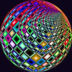 QudratRundDunkelSphereert (Marco Braun) Tags: color art sphere colored colourful coloured farbig bunt boule mucho kugel 球体 multichrome couleures 圓球