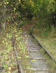 Rail track to nowhere. (wonky knee) Tags: uk shropshire railway mining leadmine snailbeach smallgauge