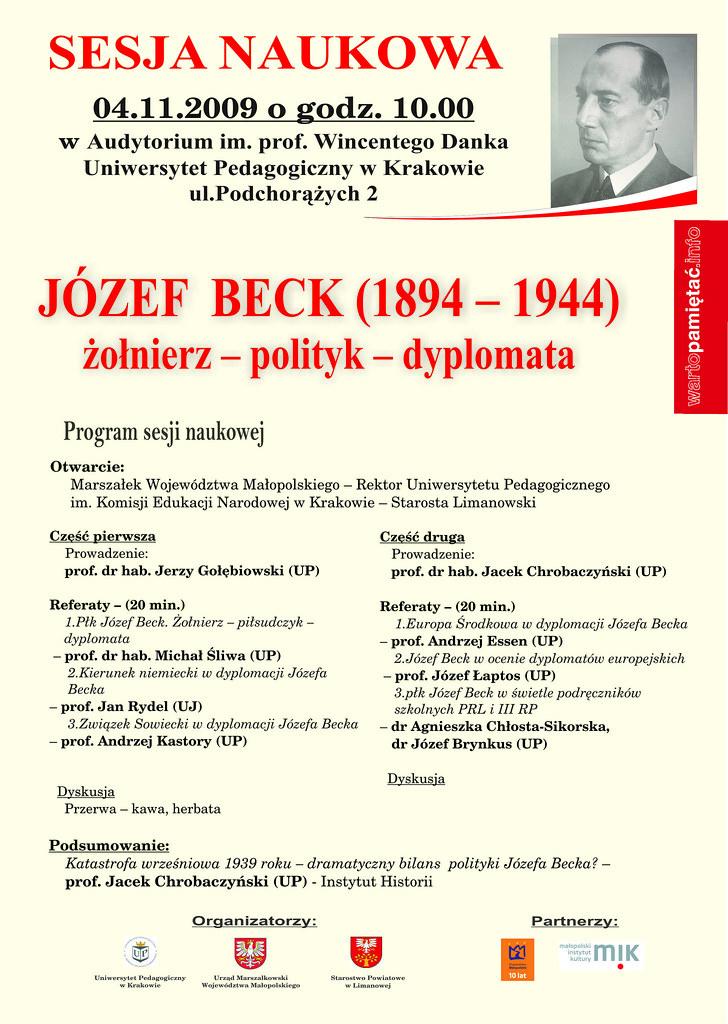Józef Beck (1894-1944) żołnierz – polityk – dyplomata