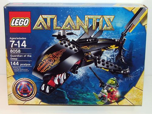 LEGO Atlantis 8058 - Guardian of the Deep - Back of Box