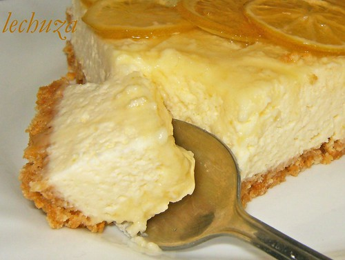 Tarta de queso y lima-cerca
