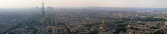 Montparnasse - Paris panorama with the Eiffel tower on the left (Romeodesign) Tags: bridge panorama mars paris france streets tower church field gold cityscape tour chapel eiffel champdemars dome alexandre montparnasse lesinvalides archoftriumph ladfense pontalexandre colemilitaire grandpalais hardouinmansart