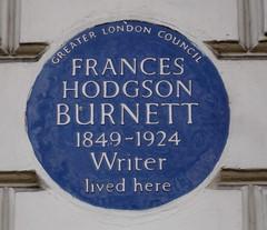 Photo of Frances Hodgson Burnett blue plaque