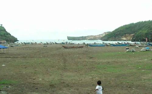 Pemandangan Pantai Baron