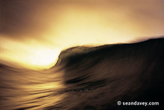 A peaking wave captured at a low shutterspeed, against the fading twilight at Pipeline, on the north shore of Oahu. (Sean Davey Photography) Tags: pictures ocean sunset sea usa color green nature horizontal glitter hawaii golden shiny energy glow power oahu flash wave northshore curl surge pipeline saltwater shimmer greenenergy greenpower speedblur oceanwave seawave oceanswell northshoreoahu seandavey oceanpower seaswell photographyfineart finephotographyart curlingwave wavesenergy seawaveenergy oceanenergy oceanwavepictures seandaveyphotography