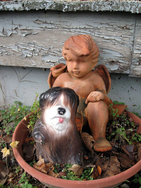 A Cherub and His Dog (Click to enlarge)