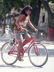Girl on bike (MJField) Tags: kiribati tarawa betio