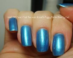 OPI Sea I Told You / Piggy Polish Blue-ty Call (ballekarina) Tags: blue nailpolish