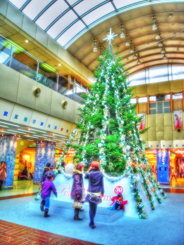 Christmas Tree,Kyoto shopping center