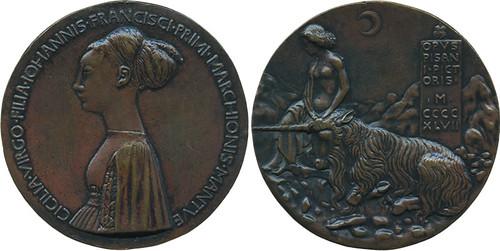 Antonio-Pisano-medal-of-Cecilia-Gonzaga