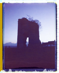 Fractured (mister sullivan) Tags: old uk film windmill wales polaroid magic mysterious peel derelict 320 monmouthshire undy 125i buttonmooon