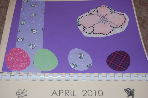 Adam's calendar gift - April