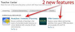 DE Teacher Center new resources