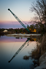 [11/365] The Cranes (pea g.) Tags: sunset vacation reflection nature evening pond crane outdoor project365 afnikkor50mmf18d 11365 nikond700